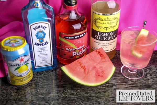 Watermelon & Lemonade Martini ingredients