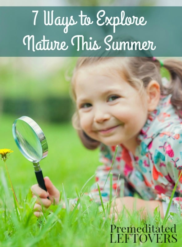 7 Ways for Kids to Explore Nature This Summer- Whether you homeschool or just want to explore the outdoors, here are 7 summer nature activities for kids.