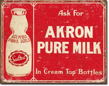 Vintage Metal Signs to Make You Feel Nostalgic- akron
