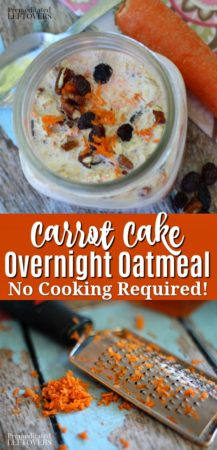 This carrot cake overnight oatmeal recipe doesn't require any cooking