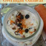 Carrot Cake Overnight Oatmeal- This Carrot Cake Overnight Oatmeal recipe is a tasty and easy way to begin your day. It's also dairy-free and gluten-free!