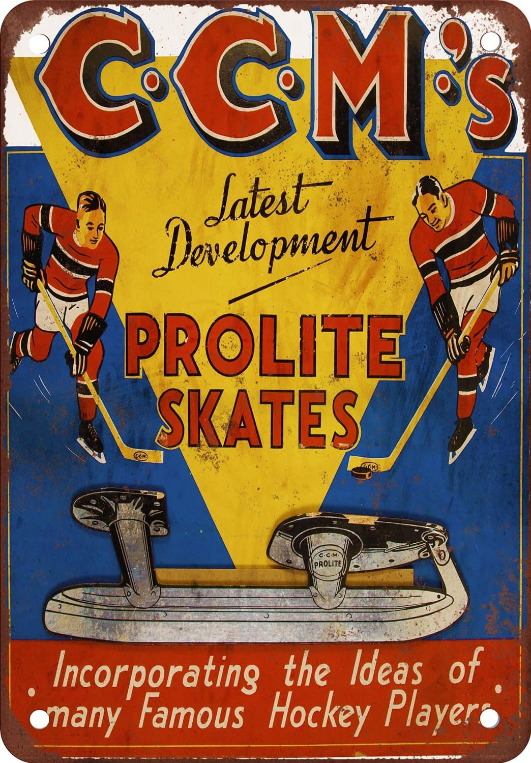 Vintage Metal Signs to Make You Feel Nostalgic- CCM proline skates
