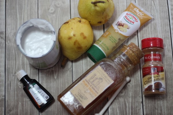 Spiced Ginger Pear Popsicles- ingredients