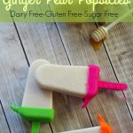 Spiced Ginger Pear Popsicles- These ginger and pear popsicle recipe is dairy-free and sugar-free. Adults and kids alike are sure to enjoy this summer treat.