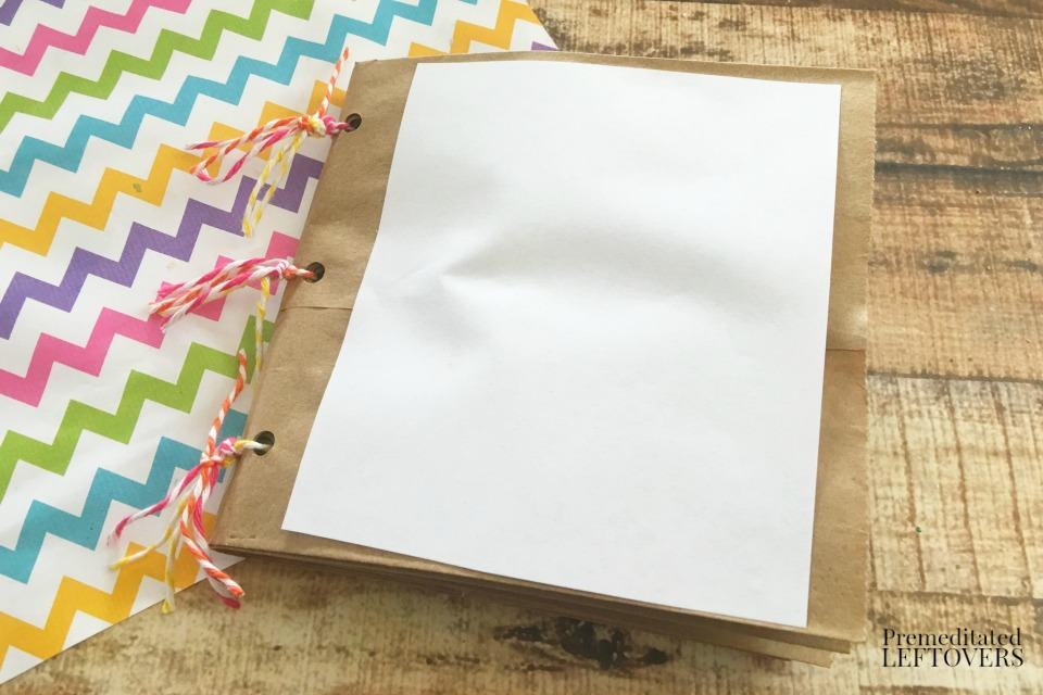 How to Make a Paper Bag Book for Kids - finished product