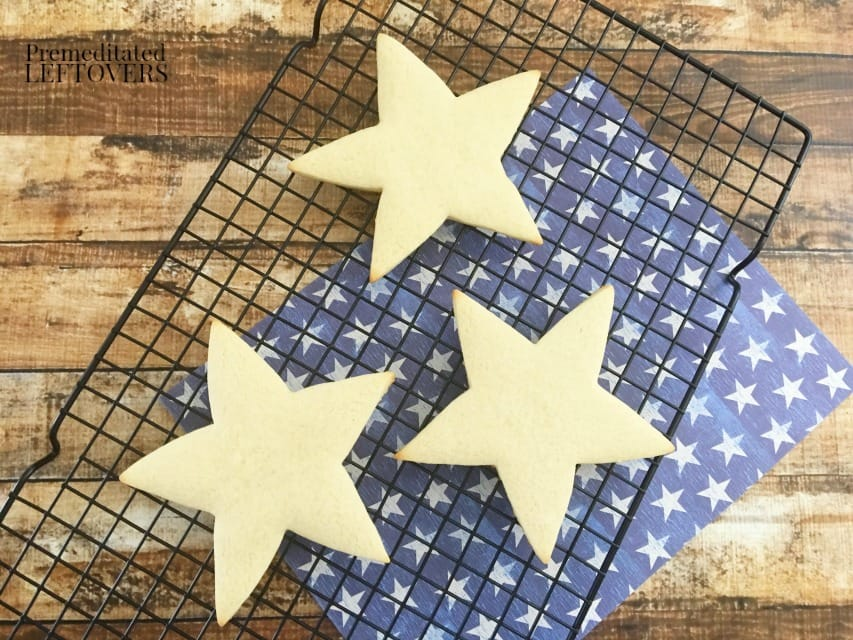 Patriotic Star Cookies - star cookies cooling