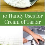 10 Handy Uses for Cream of Tartar- Here are 10 frugal ways to use cream of tartar for cleaning, repelling ants, removing stains, and more!