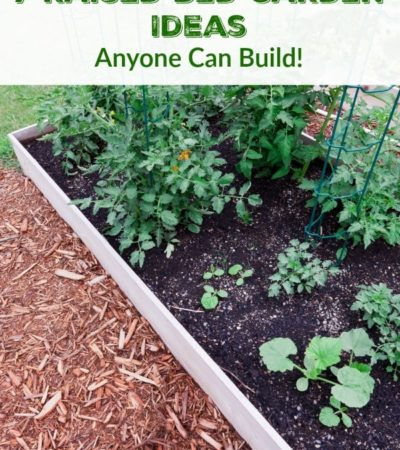 7 Raised Bed Garden Ideas Anyone Can Build- These 7 different raised bed gardens make the most of a small space and are much easier on your back and knees!