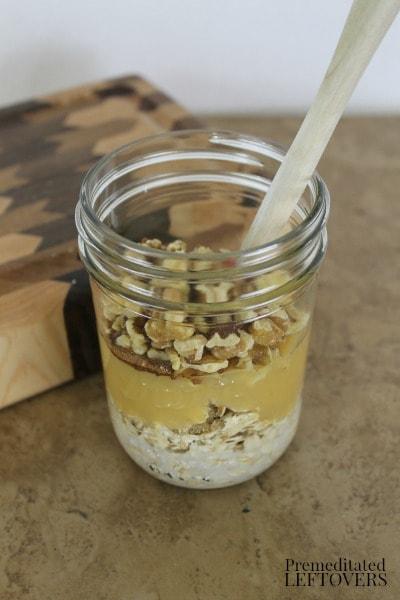 Apple Pie Overnight Oatmeal - add walnuts