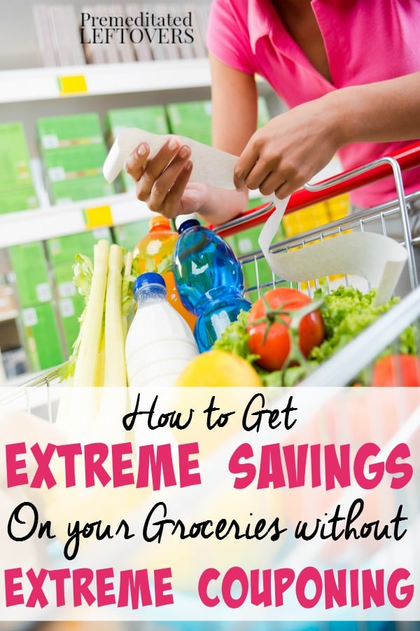 Extreme Grocery Savings Without Extreme Couponing- Here are some great ways to save money on groceries without using a single coupon.