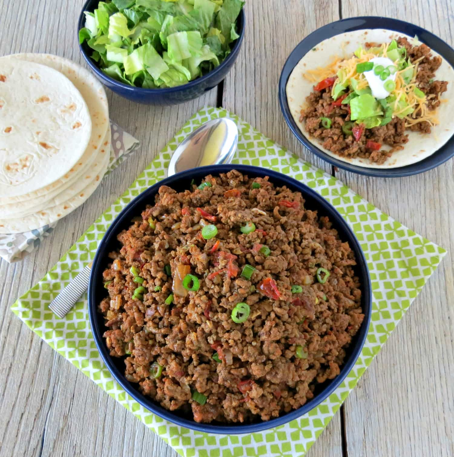 Homemade Seasoned Taco Meat- finished taco meat