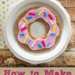 How to Make a Felt Donut Toy for Kids- Here's an easy tutorial for making an adorable felt donut toy. It requires a few frugal materials and minimal sewing.