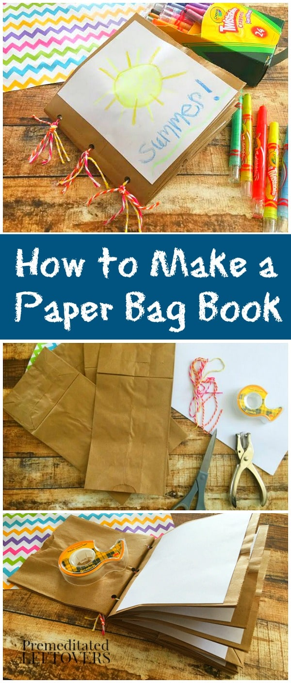 Book Cover Instructions Paper Bag : How to make a paper bag book for kids