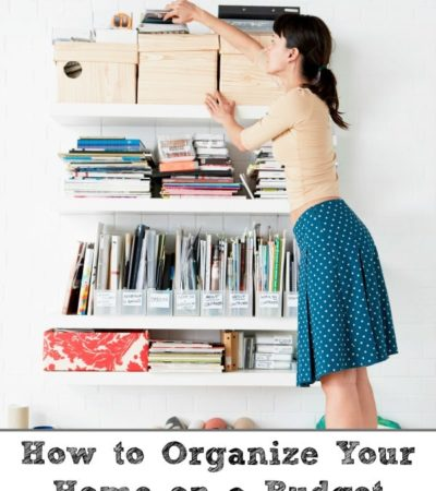 How to Organize Your Home on a Budget- Get your home organized with these inexpensive items. You can even add a pop of color and organize in style for less.