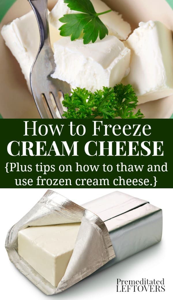 How to freeze cream cheese and how to thaw cream cheese and ideas for using thawed cream cheese.