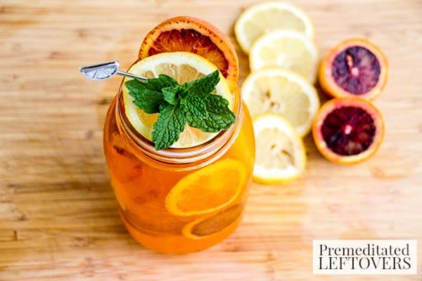 Orange & Cream Soda Lemonade- served in mason jar