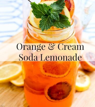 Orange & Cream Soda Lemonade- With a mix of oranges and lemons, this homemade drink is sure to tame the summer heat. It's lemonade with a refreshing twist!