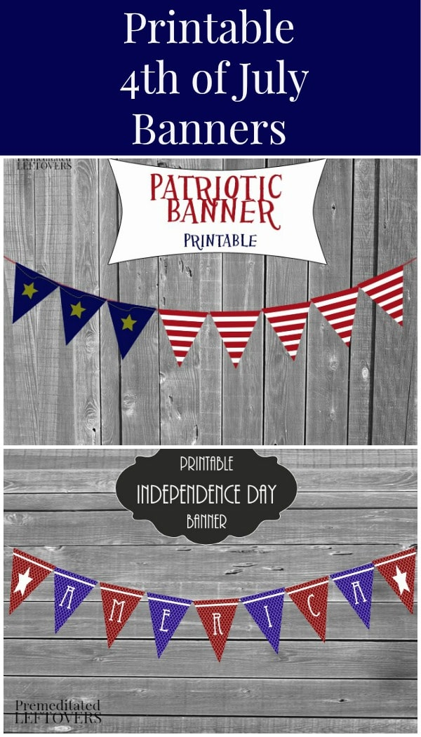 4th Of July Patriotic Printable Banners