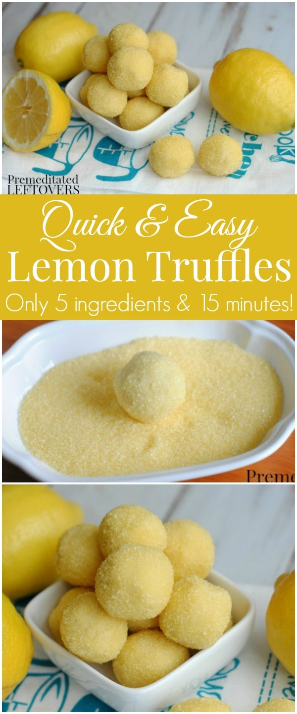 Quick and Easy Lemon Truffle Recipe Using Cake Mix