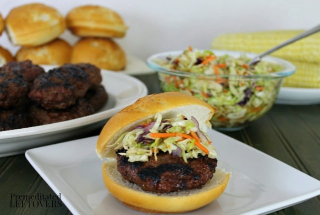 Teriyaki Burgers with Asian Coleslaw recipe and tips