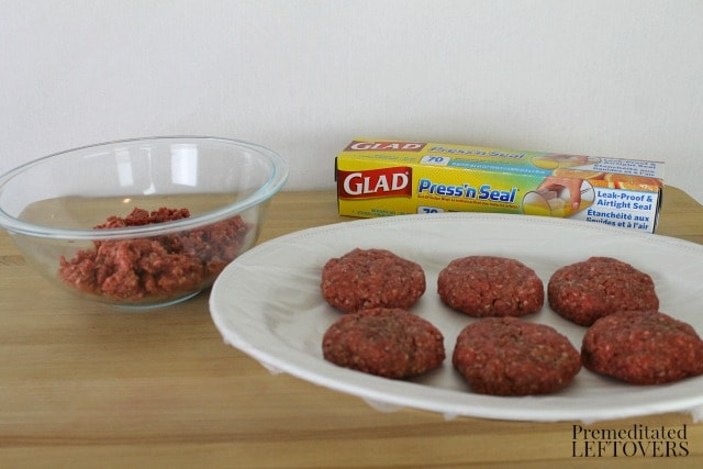 Use Glad Press 'n Seal to cover platter to keep raw meat from touching the platter