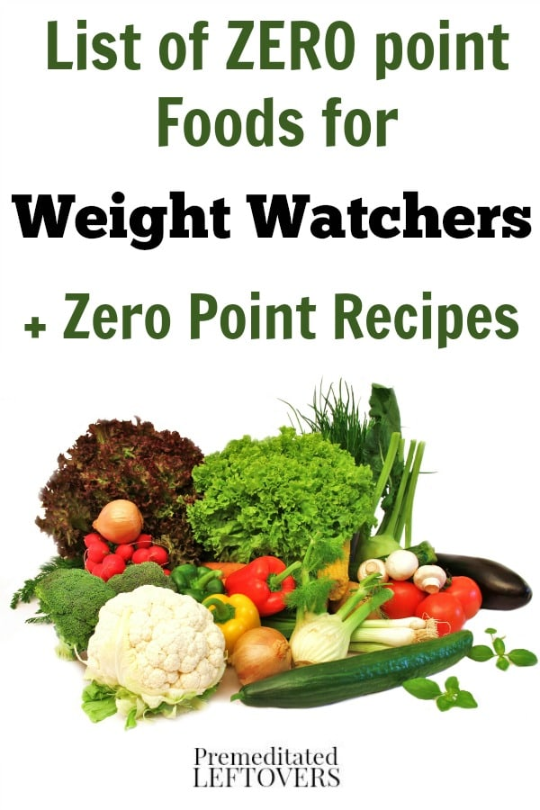 Weight Watchers Low Point Foods List Food