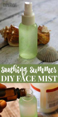 a bottle of homemade face mist