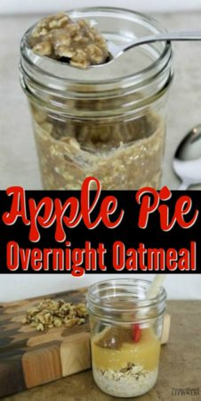 A quick and easy easy apple pie overnight oatmeal recipe.