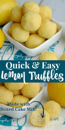 An easy lemon truffle recipe made with boxed lemon cake mix.