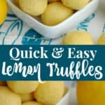 This easy lemon truffles recipe is made using 5 ingredients.
