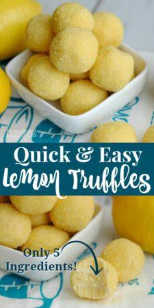 This easy lemon truffles recipe is made using 5 ingredients.