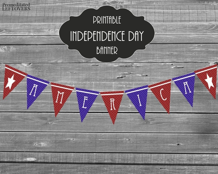 Printable Independence Day Banner