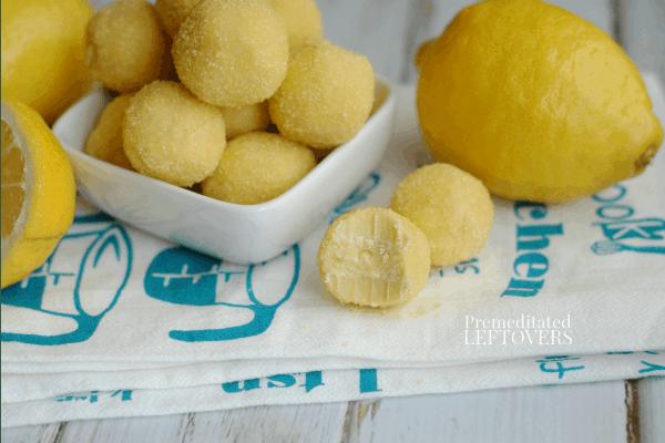 lemon balls rolled in yellow sugar