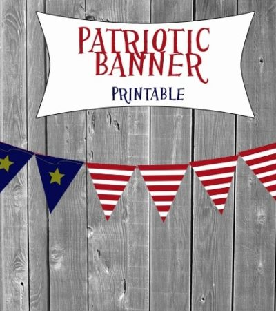 Patriotic Printable Banners- Print out these patriotic banners to make frugal decorations for your 4th of July celebrations and cook-outs!