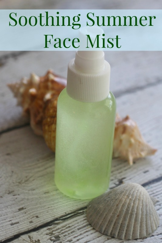 Homemade Soothing Summer Face Mist