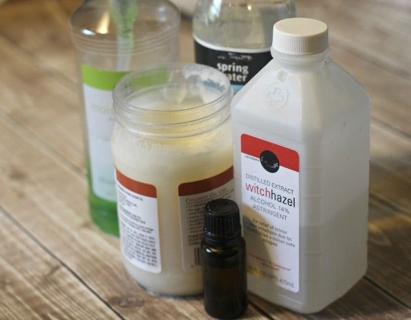 Homemade Soothing Summer Face Mist- ingredients