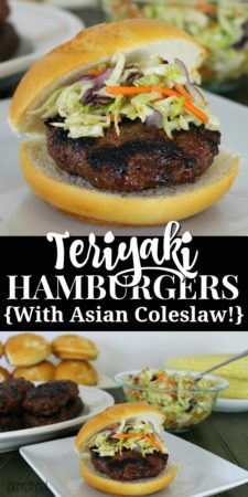teriyaki hamburgers with asian coleslaw