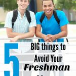 5 Things to Avoid in Your First Year of College- Start college off on the right track by avoiding these 5 things. You will limit stress and stay focused.