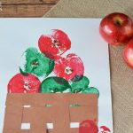 Apple Stamp Painting - finished product