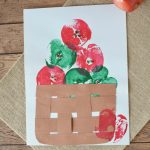 Apple Stamping Craft- This stamping craft is a fun way to paint with apples. It's also a frugal and easy activity for kids!