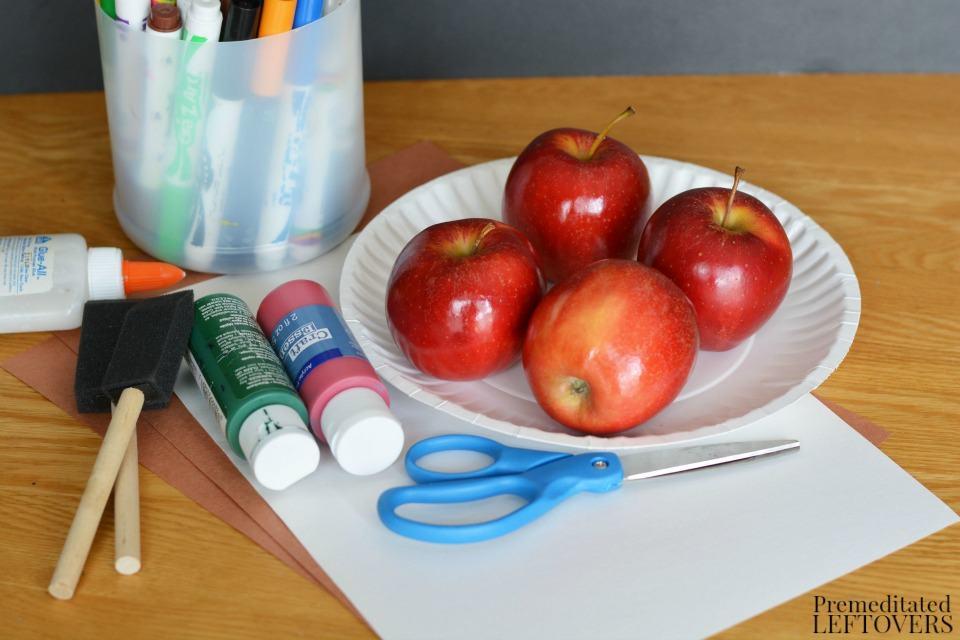 Apple Stamping Craft - Supplies