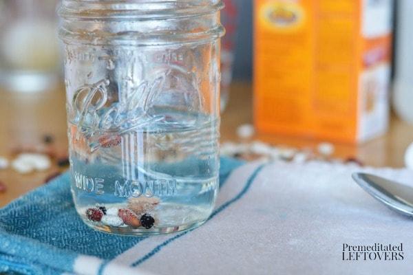 Bouncing Beans Activity- jar of beans