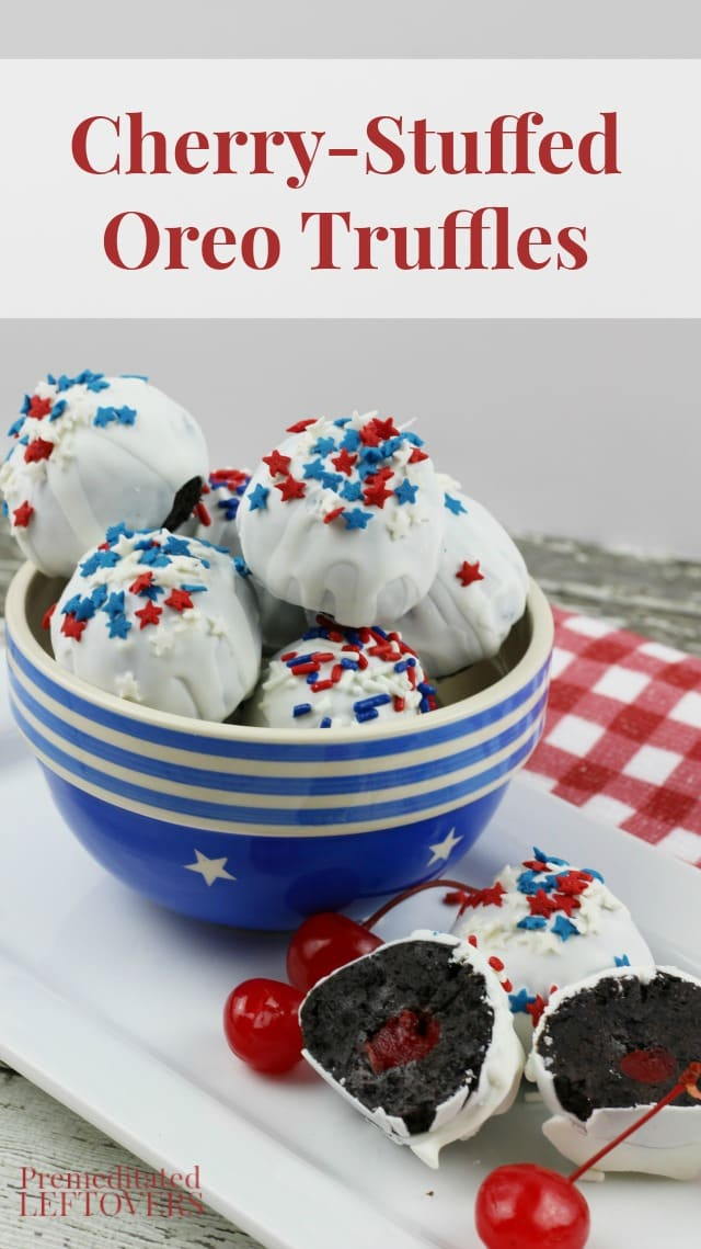 Cherry-Stuffed Oreo Truffles Recipe - These Cherry-Stuffed Oreo Truffles are an easy and delicious no-bake dessert that requires 5 ingredients.
