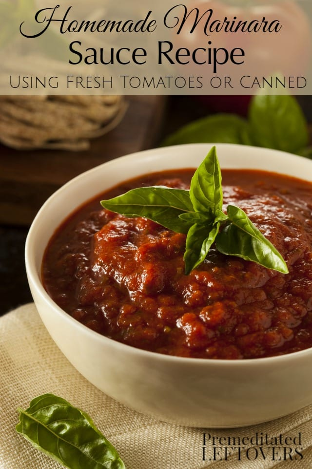 Homemade Marinara Sauce Recipe — Dishmaps