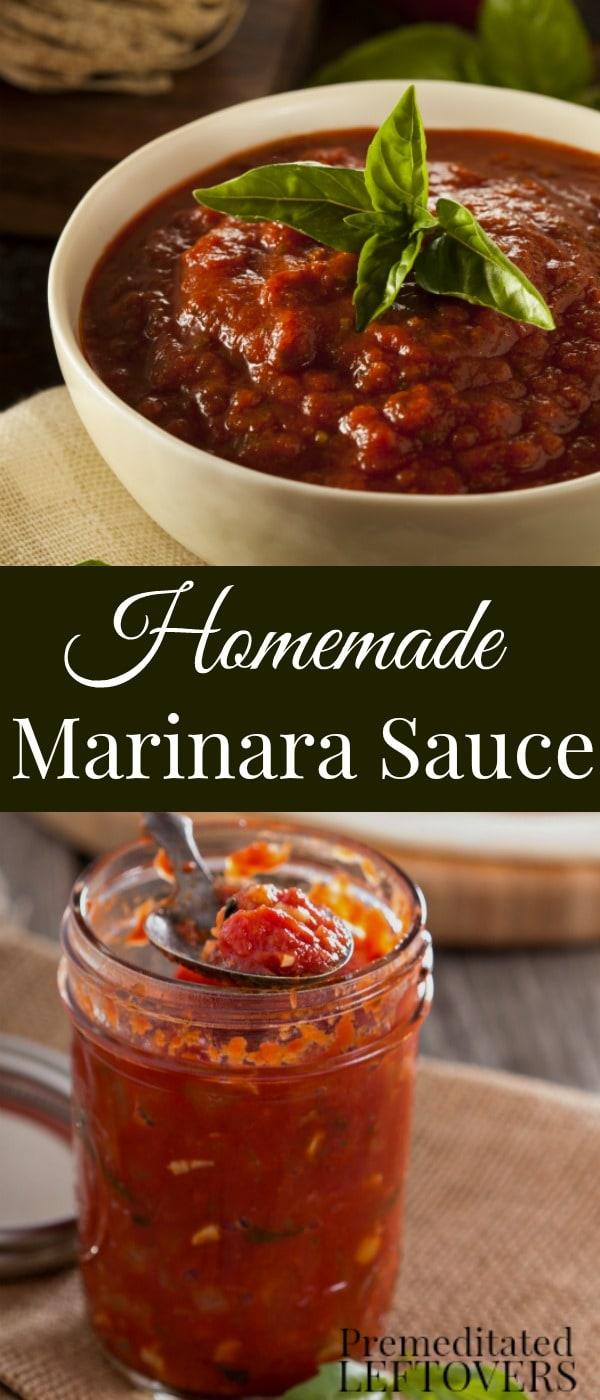 Quick And Easy Homemade Marinara Sauce Recipe