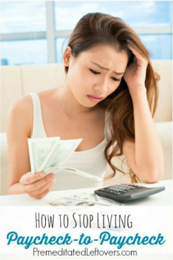 w to Stop Living Paycheck to Paycheck: Tips to get out of the paycheck-to-paycheck rut and start saving money so you can build up your savings account.