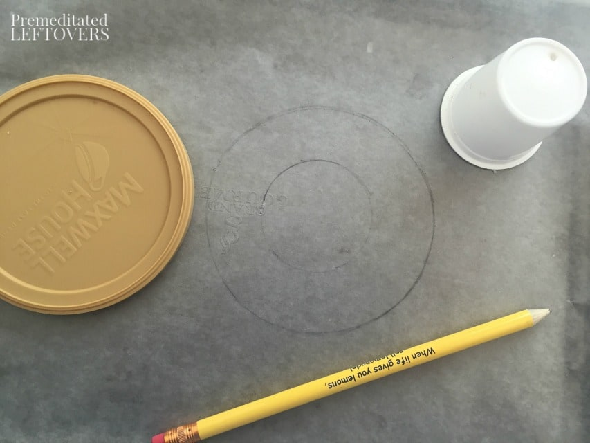Olympic Rings Sun Catcher - tracing circles