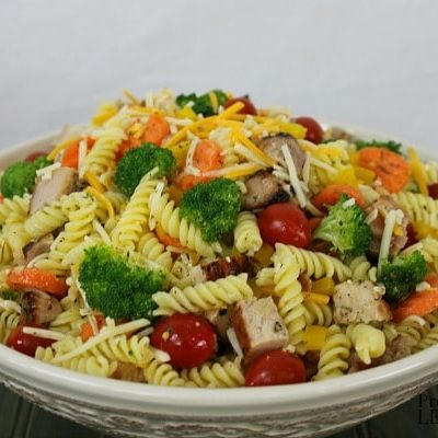 Pasta Salad Recipe with Grilled Pork
