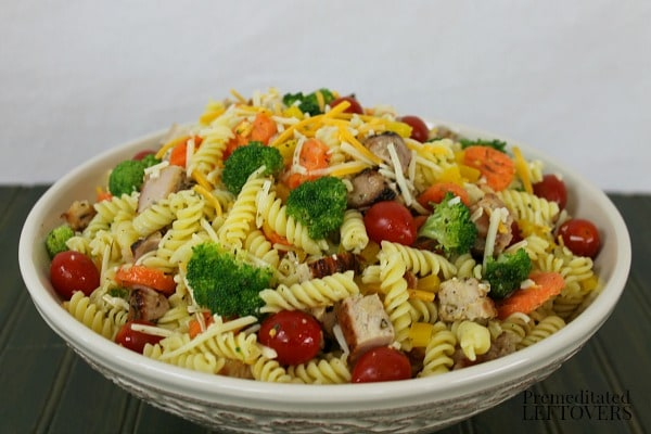 Italian Pasta Salad Recipe with Grilled Pork - A quick and easy summer salad recipe!