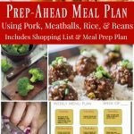 Prep-Ahead Meal Plan Using Cubed Pork, Meat Balls, and Beans